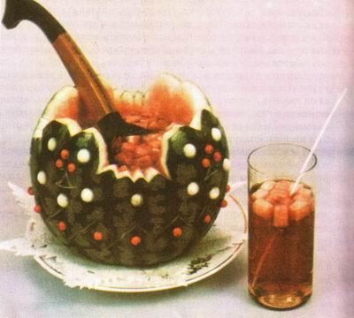 Фотография 1. Оформление напитков.